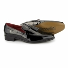 Rossellini JERSEY Mens Patent Loafer Shoes Black