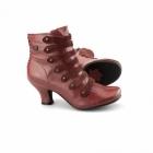 Hush Puppies TIFFIN VERONA Ladies Leather Suede Zip Boots Red