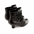 Hush Puppies TIFFIN VERONA Ladies Leather Zip Boots Black