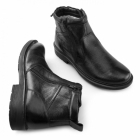 Catesby Shoemakers STREET 03 Mens Twin Zip Leather Warm Ankle Boots Black