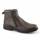 Catesby Shoemakers STREET 03 Mens Twin Zip Leather Warm Ankle Boots Brown