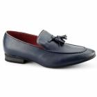 Giovanni LUIGI Mens Faux Leather Tassel Loafers Blue