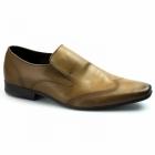 Ikon VINNIE Mens Leather Slip On Loafers Tan