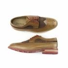 Gucinari FRANKIE Mens Leather & Suede Brogue Shoes Brown