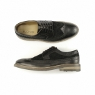Gucinari FRANKIE Mens Leather & Suede Brogue Shoes Black