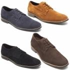 Lucini PRESTON Mens Suede Lace Up Desert Shoes Dark Blue