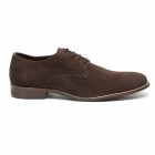 Lucini PRESTON Mens Suede Lace Up Desert Shoes Brown/Coffee