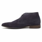 Lucini DUNN Mens Suede Lace Up Chukka Boots Dark Blue