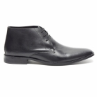 Lucini DUNN Mens Leather Lace Up Chukka Boots Black