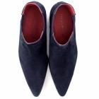 Paolo Vandini VEER III Mens Suede Winklepicker Cuban Heel Boots Royal Blue