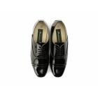 Montecatini REYES Mens Patent Cuban Heel Lace Up Shoes Black