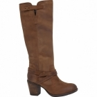 Hush Puppies GUSSIE MOORLAND Ladies Leather Boots Tan