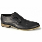 Thomas Catesby JACOBI Mens Leather Double Monkstrap Shoes Black