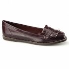 Dolcis ROTTERDAM Ladies Fringe Loafers Burgundy