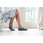 Padders RIVA Ladies Felt Wide Fit Slippers Grey