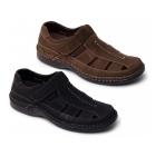 Padders BREAKER Mens Nubuck Sports Sandals Black