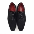 Rossellini MARIO Mens Faux Suede Oxford Shoes Black