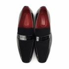 Rossellini MONZESE Mens Patent Faux Leather Loafers Black