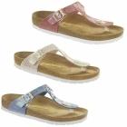 Birkenstock GIZEH Ladies Toe Post Sandals Snake Sky