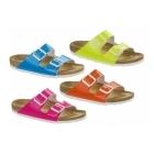 Birkenstock ARIZONA Ladies Buckle Sandals Neon Blue