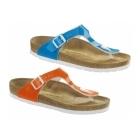 Birkenstock GIZEH Ladies Buckle Toe Post Sandals Neon Blue
