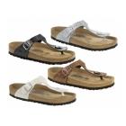 Birkenstock GIZEH Ladies Glitter Buckle Toe Post Sandals Bronze