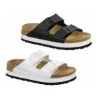 Papillio By Birkenstock ARIZONA Ladies Platform Buckle Sandals White
