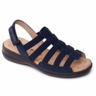 Padders LESLEY Ladies Extra Wide Touch Fasten Slingback Sandals Navy