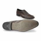 Base London COMMERCE Mens Leather Brogue Shoes Brown