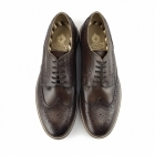 Base London APSLEY Mens Leather Brogue Derby Shoes Brown