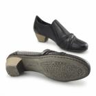 Rieker 41715-00 Ladies Leather Slip On Heeled Shoes Black