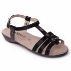 Padders PEARL Ladies Buckle Wide Fit Sandals Black