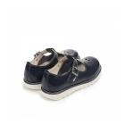 Kickers KICK T SUMA Ladies T-Bar Leather Shoes Dark Blue