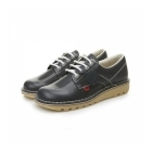 Kickers KICK LO Ladies Leather Shoes Navy