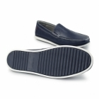 Hush Puppies BOB PORTLAND Mens Leather Wide Loafers Navy
