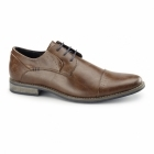 Bottesini SENATOR Mens Faux Leather Derby Shoes Brown