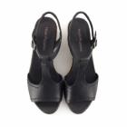 Hush Puppies BLAKELY DURANTE Ladies Wedge Sandals Black