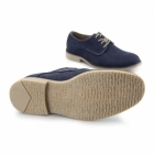 Charles Southwell NASHVILLE Mens Faux Suede Lace Up Desert Shoes Navy
