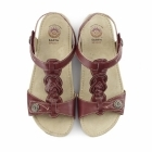 Earth Spirit GOODYEAR Ladies Leather Floral Sandals Red