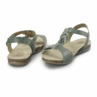 Earth Spirit GOODYEAR Ladies Leather Floral Sandals Teal