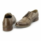 Ikon GRAYSON Mens Leather Toe Cap Brogues Tan