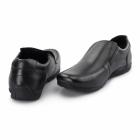 Ikon WAVE Unisex Leather Slip-On Loafers Black