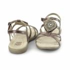 Earth Spirit HOUSTON Ladies Jewel Velcro Sandals Dark Copper