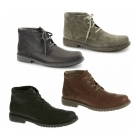 Cat ® BROCK Mens Leather Chukka Boots Mulch