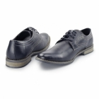 Bottesini NEWBURY Mens Faux Leather Derby Shoes Navy