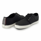 Jack & Jones TURBO Mens Faux Soft Leather Trainers Anthracite