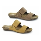 El Naturalista ND75 Ladies Leather Velcro Sandals Carrot
