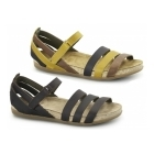 El Naturalista NF42 Ladies Leather Velcro Sandals Brown