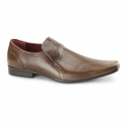 Red Tape HUMBER Mens Leather Chisel Toe Shoes Tan