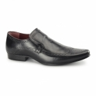 Red Tape MALAGO Mens Leather Pointed Shoes Black